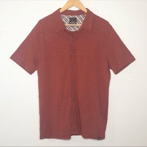Prana Keylyn Casual Button Front Shirt Size L
